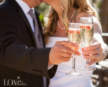 Lake Arrowhead Cheers to the happy couple - Love One Another Photography