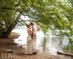 Lakeside mountain wedding - Love One Another Photography