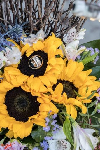 sun flowers wedding lake arrowhead